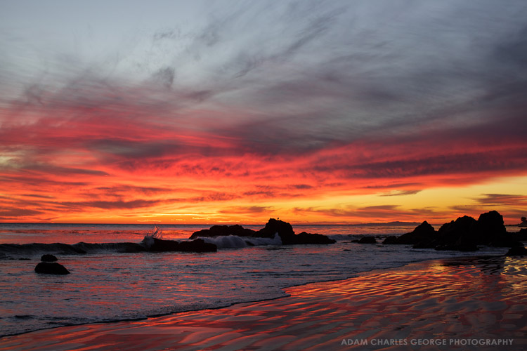 Malibu, California sunset by Adam Charles George Photography