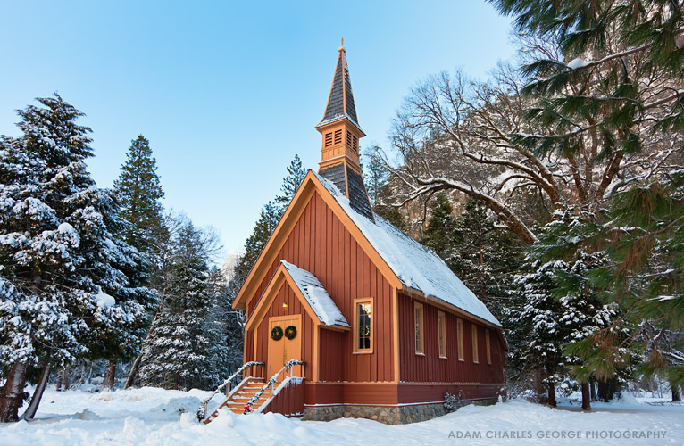 Yosemite Valley Chapel by Adam Charles George Photography